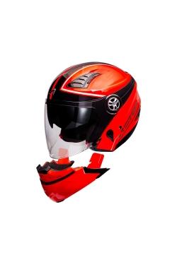 Astone 610 Neon Orange OO26 Black (Open Face Helmet)
