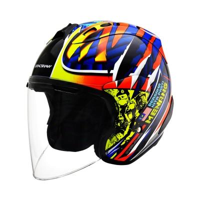 Gracshaw Grixent Frontliner Red (Open Face Helmet)