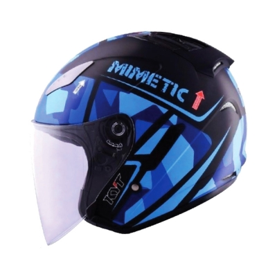 KYT Hellcat Mimetic Blue (Open Face Helmet)