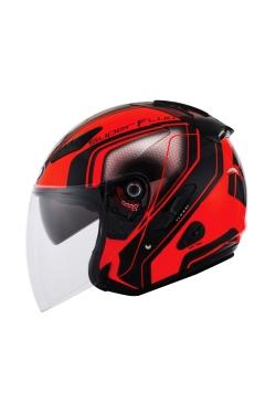 KYT Venom Superfluo Red (Open Face Helmet)