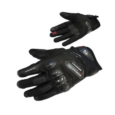 Komine GK-167 Carbon Protect Mesh Gloves Black