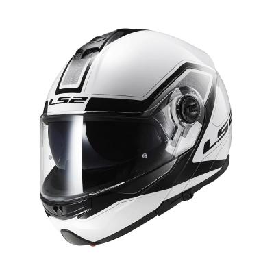 LS2 Strobe FF325 White Black (Flip Up Helmet)