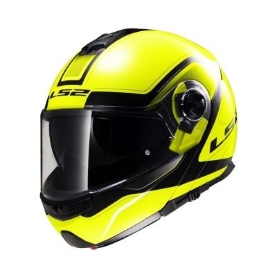 LS2 Strobe FF325 Yellow Black (Flip Up Helmet)