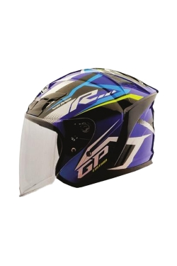 MHR OF622 Beatz GP-R1 Blue (Open Face Helmet)