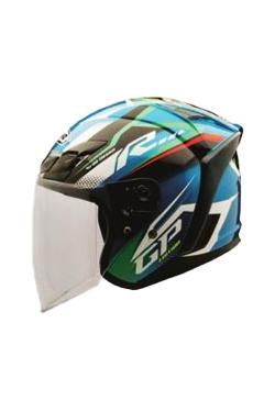 MHR OF622 Beatz GP-R1 Cyan (Open Face Helmet)