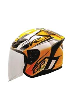 MHR OF622 Beatz GP-R1 Yellow (Open Face Helmet)
