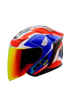 MHR OF622 Beatz Honda GP Blue Red (Open Face Helmet)