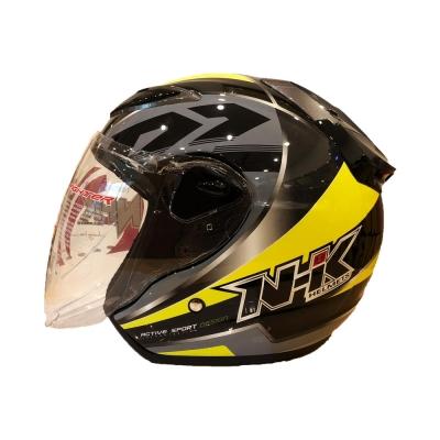 NHK R6 Uriken Neon Yellow (Open Face Helmet)