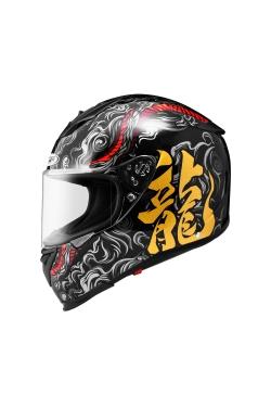 Zeus ZS 1900 Black AO15 Gold (Full Face Helmet)