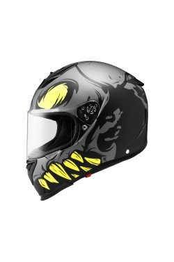 Zeus ZS 1900 Matte Black AO16 Fluorescent Yellow (Full Face Helmet)