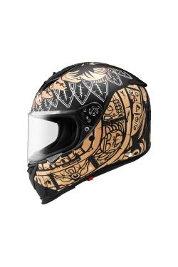 Zeus ZS 1900 Matte Black AO3 Gold (Full Face Helmet)