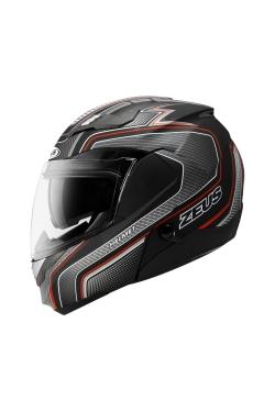 Zeus ZS 3100 Matte Black YY8 Red (Flip Up Helmet)