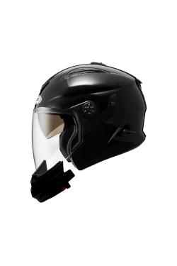 Zeus ZS 613 Pearl Black (Open Face Helmet)
