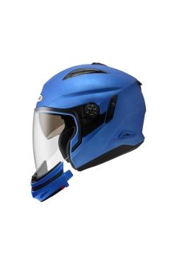 Zeus ZS 613 Matte Blue (Open Face Helmet)