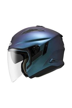 Zeus ZS 613 Matte Chameleon Purple (Open Face Helmet)