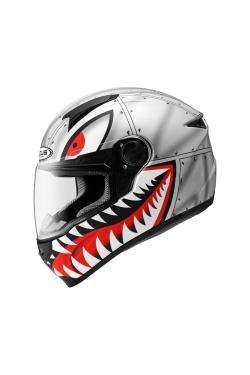 Zeus ZS 811 Matte Grey AL38 Black (Full Face Helmet)