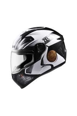 Zeus ZS 811 Black AL39 White (Full Face Helmet)