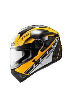 Zeus ZS 811 Yellow AL41 White (Full Face Helmet)
