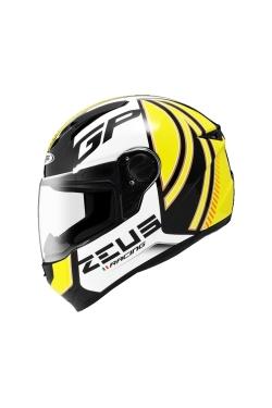 Zeus ZS 811 Black AL2 Yellow (Full Face Helmet)