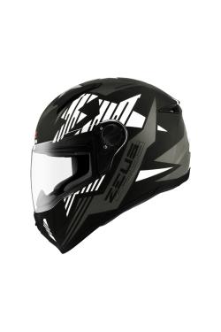 Zeus ZS 811 Matte Black AL28 Black Silver (Full Face Helmet)