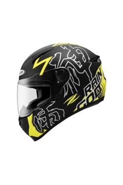 Zeus ZS 811 Matte Black AL31 Neon Yellow (Full Face Helmet)