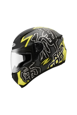 Zeus ZS 811 Dark Silver AL31 Fluorescent Yellow (Full Face Helmet)
