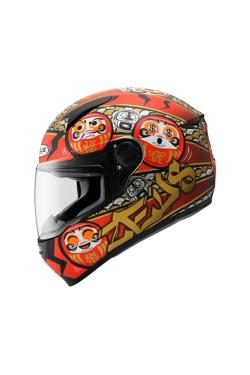 Zeus ZS 811 Metallic Black AL35 Red (Full Face Helmet)
