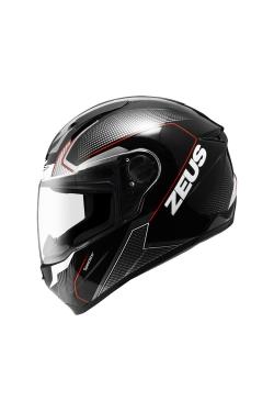 Zeus ZS 811 Black AL6 White Red (Full Face Helmet)