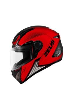 Zeus ZS 811 Matte Red AL6 Black (Full Face Helmet)