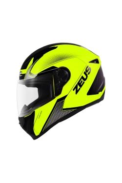 Zeus ZS 811 Neon Yellow AN6 Black (Full Face Helmet)