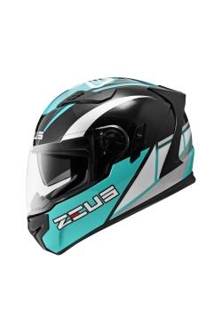 Zeus ZS 813 Black AN29 Green (Full Face Helmet)