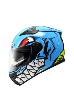 Zeus ZS 813 Blue AN31 Green (Full Face Helmet)