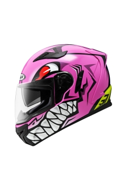 Zeus ZS 813 Pink AN31 Green (Full Face Helmet)
