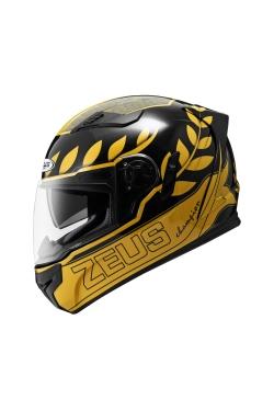 Zeus ZS 813 Matte Black AN32 Gold (Full Face Helmet)