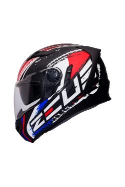 Zeus ZS 813 Matte Black AN13 Red (Full Face Helmet)