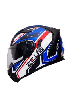 Zeus ZS 813 Matte Black AN5 Blue Red (Full Face Helmet)