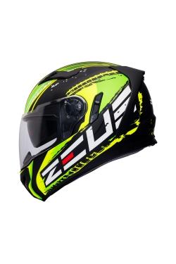 Zeus ZS 813 Matte Black AN13 Green (Full Face Helmet)