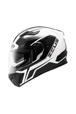Zeus ZS 813 White AN6 Black (Full Face Helmet)